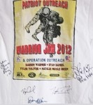 Signed Warrior Jam 2012 T-shirt